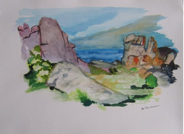 Ouessant water color